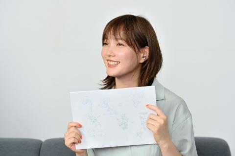 企画書の裏に本田氏が描いたキャラクターイラスト。まだお見せできないがこれをもとにプロジェクトが本格始動した