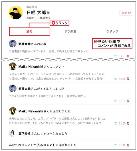 【マイページ】読みたい記事だけを自動収集・表示する便利機能(画像)